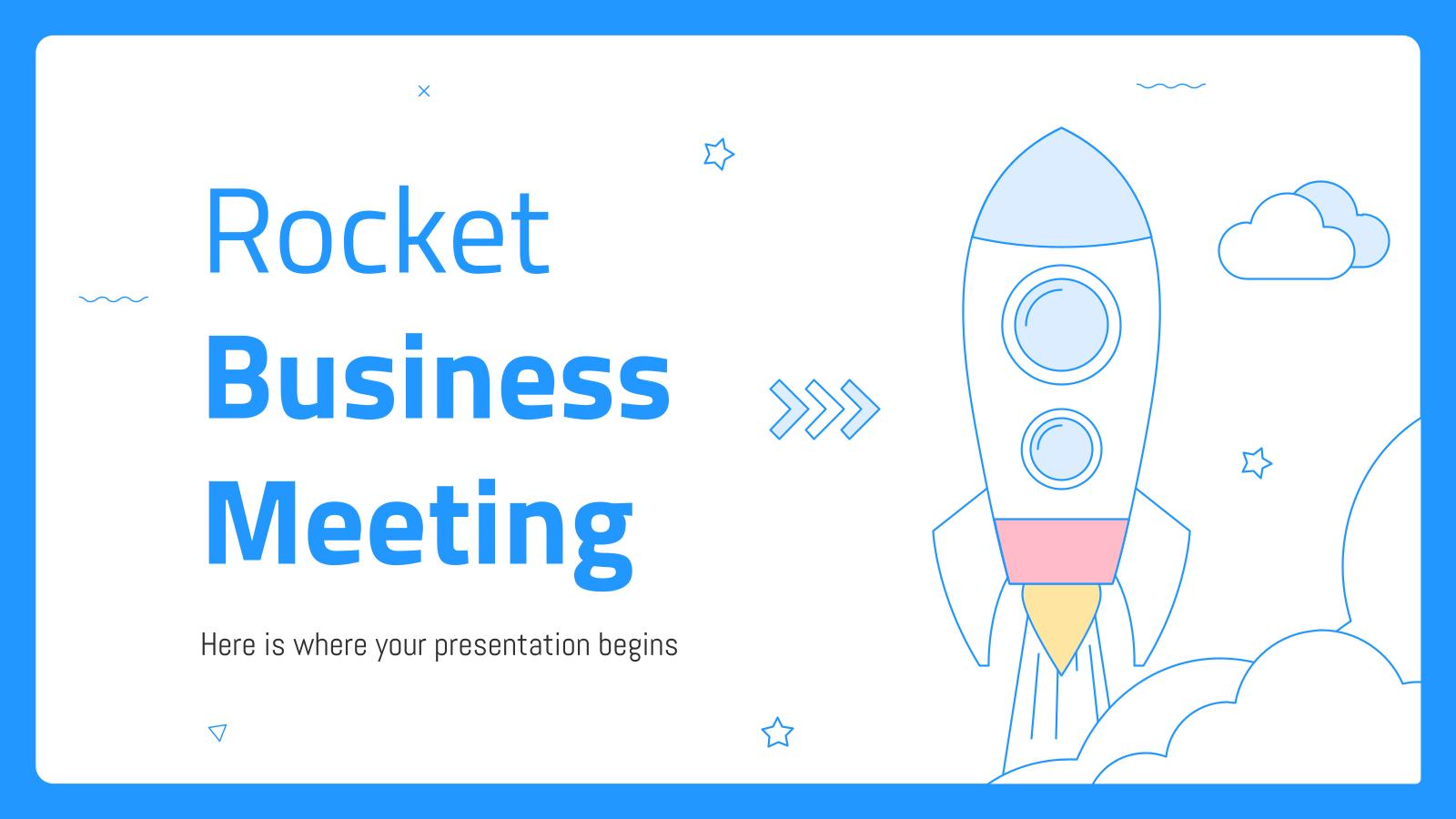 Modelo de apresentação Reunião de negócios Rocket