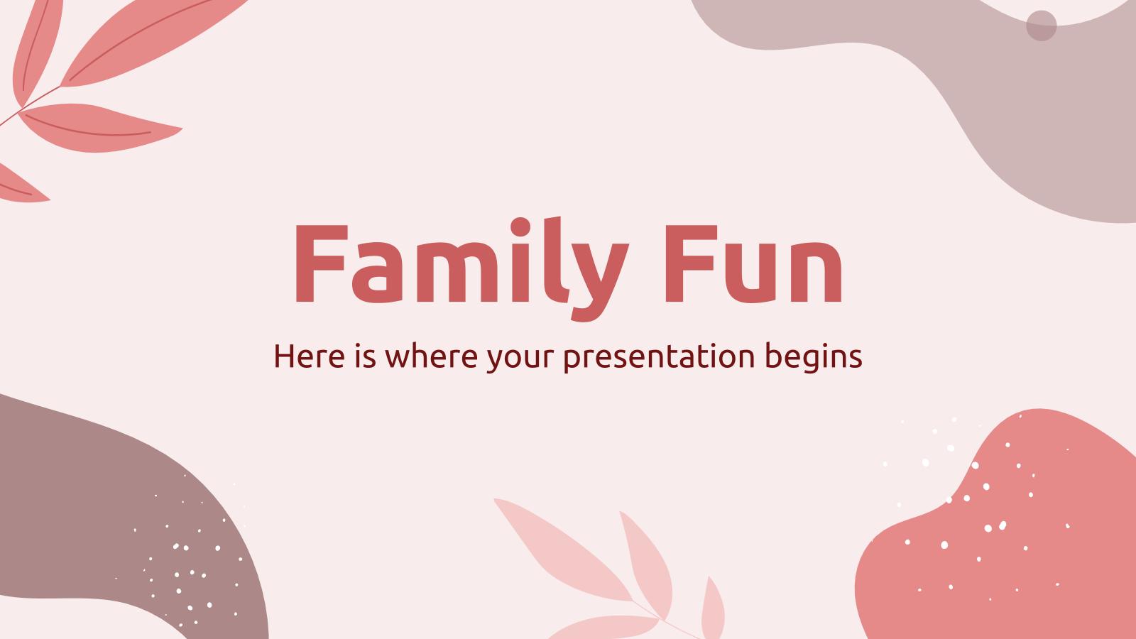Family Fun presentation template