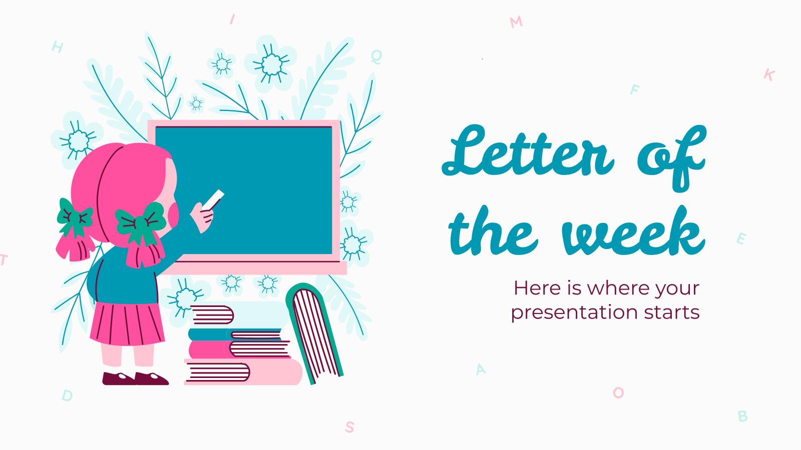 Modelo de apresentação Letra da semana