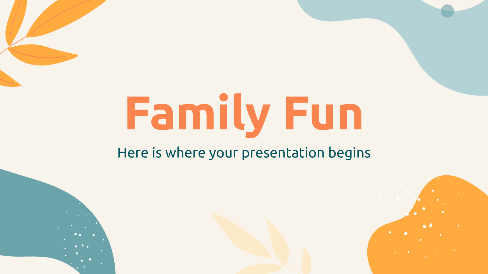 Family Fun presentation template