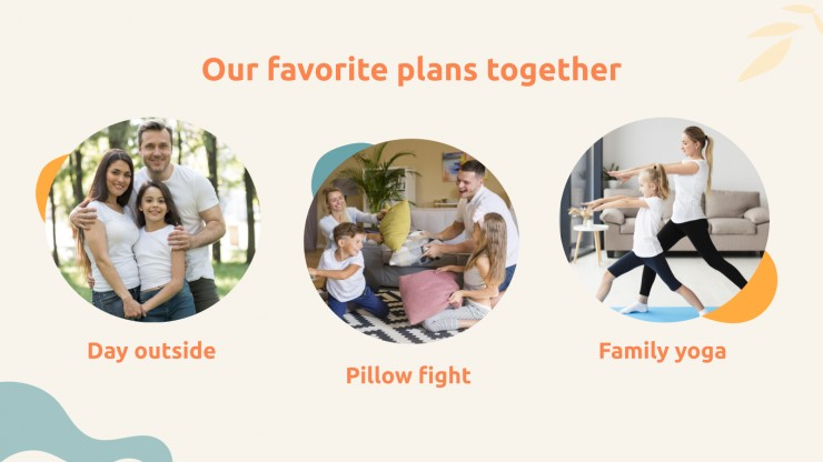 Plantilla de presentación Diversión en familia