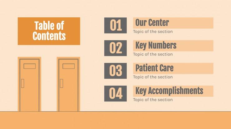 Centre de soins : Modèles de présentation