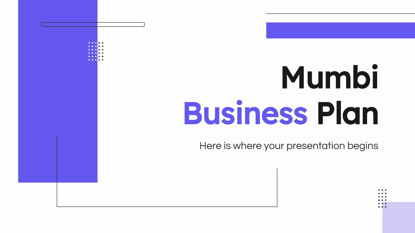 Plantilla de presentación Plan de negocios mumbi