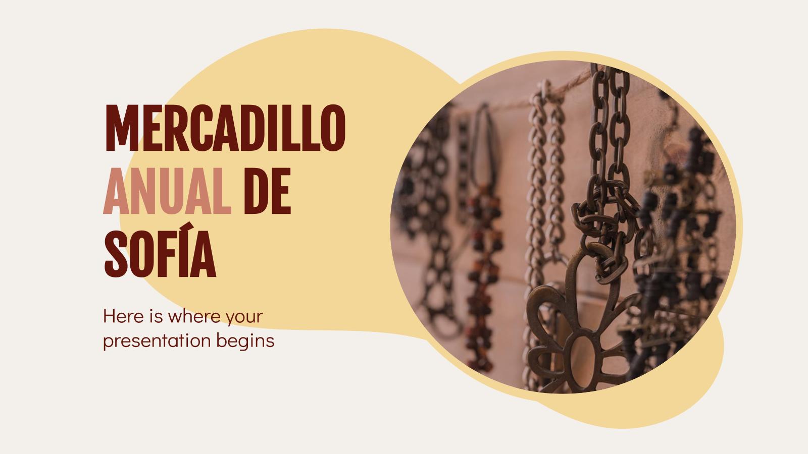 Modelo de apresentação Mercadillo Anual de Sofía