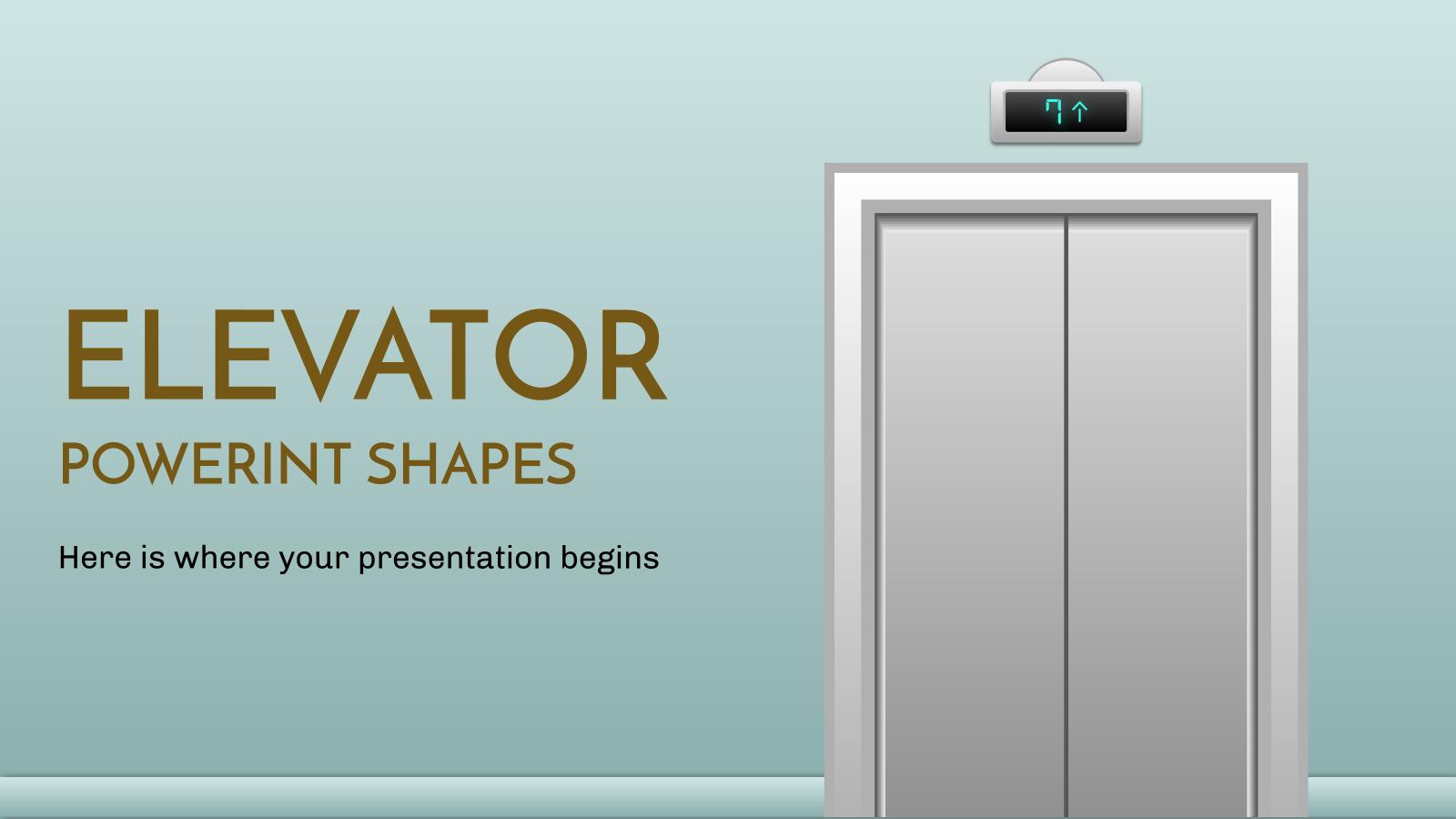 Formes d'ascenseurs Powerint : Modèles de présentation