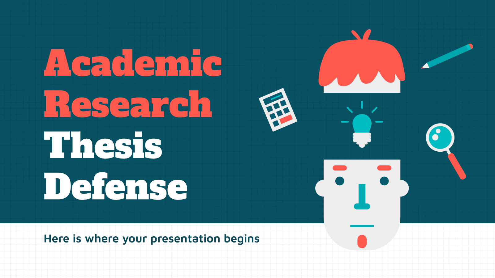 Academic Research Thesis Defense presentation template