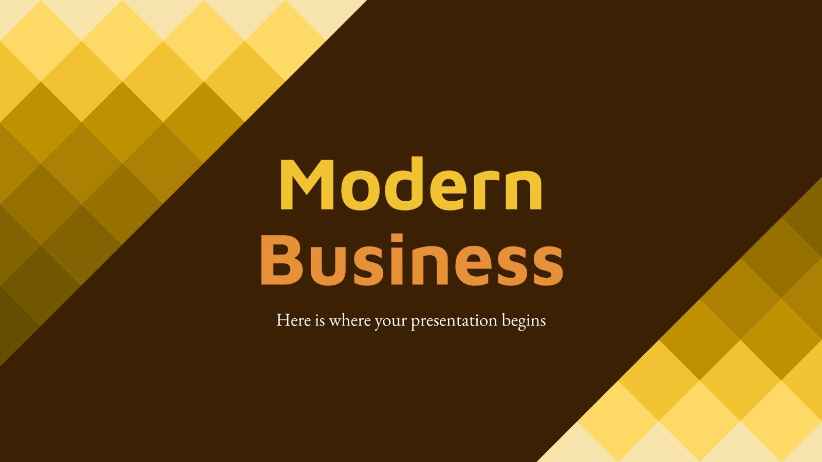 Modelo de apresentação Negócios modernos