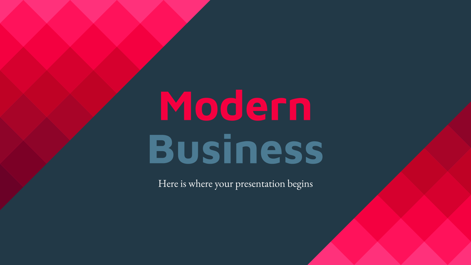 Plantilla de presentación Negocio moderno