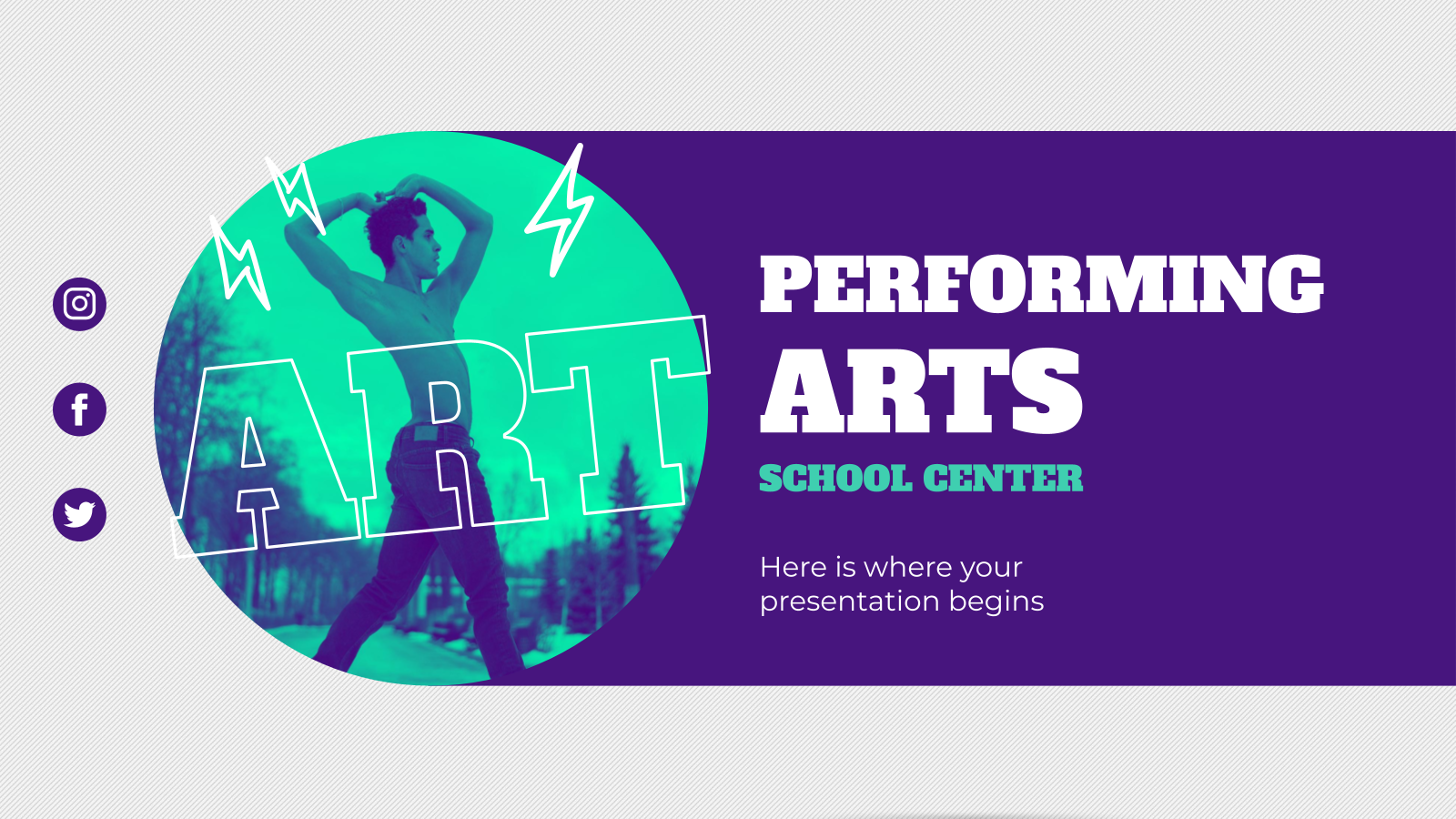 Performing Arts School Center presentation template