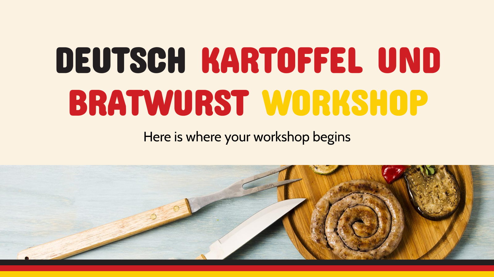 Deutsch Kartoffel und Bratwurst Workshop presentation template
