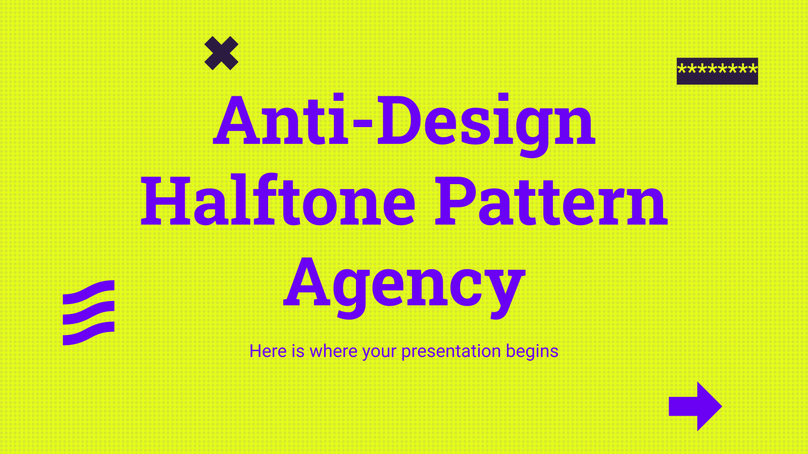 Anti-Design Halftone Pattern Agency presentation template