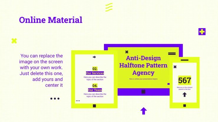 Agence de motifs anti-design demi-teintes : Modèles de présentation