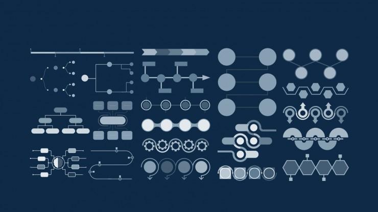 Anti-Design Halftone Pattern Agency presentation template
