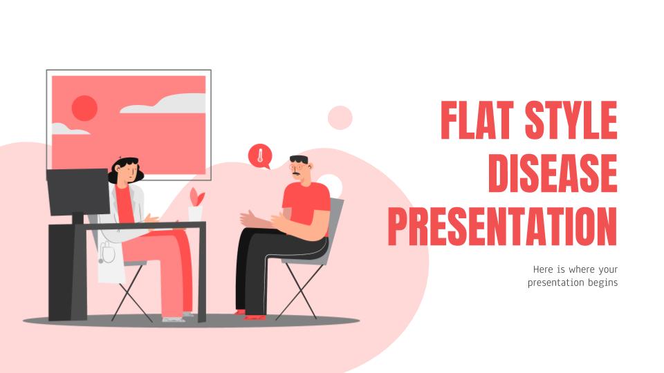 Maladie flat design : Modèles de présentation