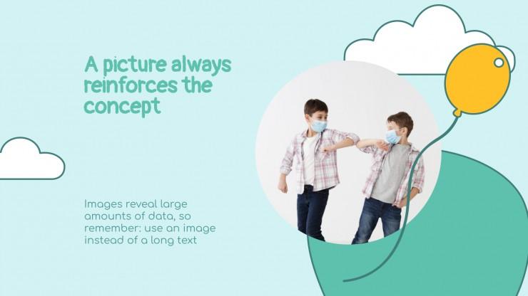 Modelo de apresentação Saudações com distanciamento social
