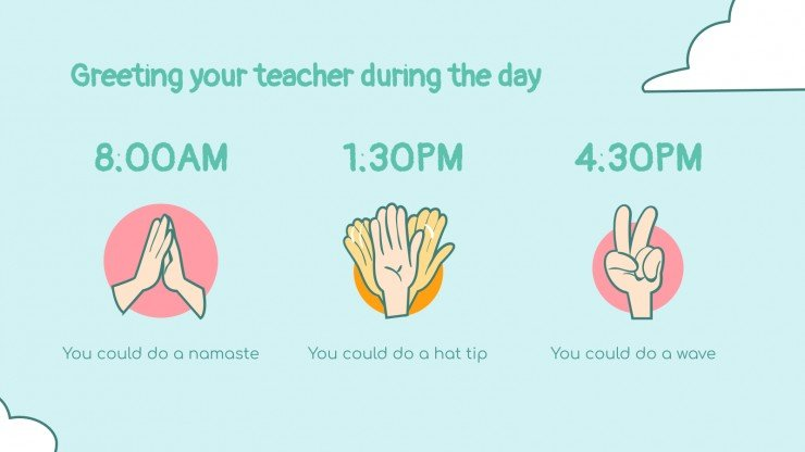Morning Greetings with Social Distancing presentation template
