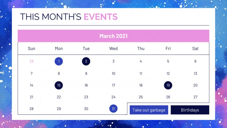 March Daily Slides presentation template