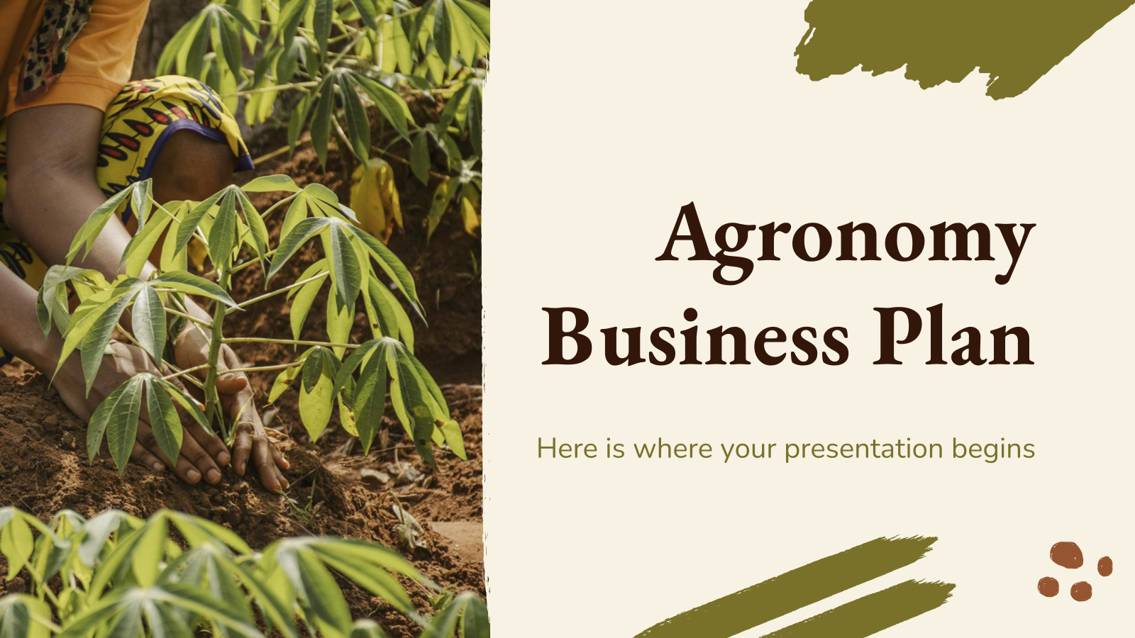 Agronomy Business Plan presentation template
