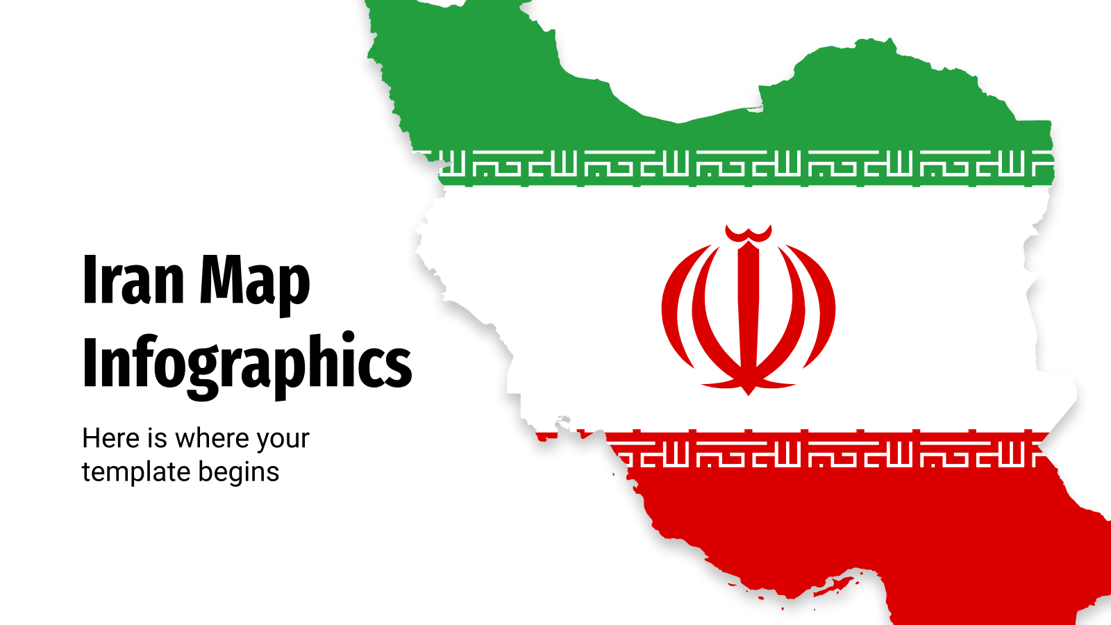 Iran Map Infographics presentation template