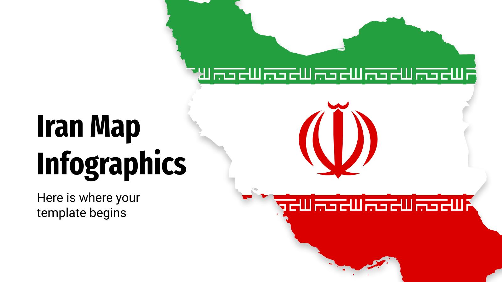 Cartes infographiques de l'Iran : Modèles de présentation
