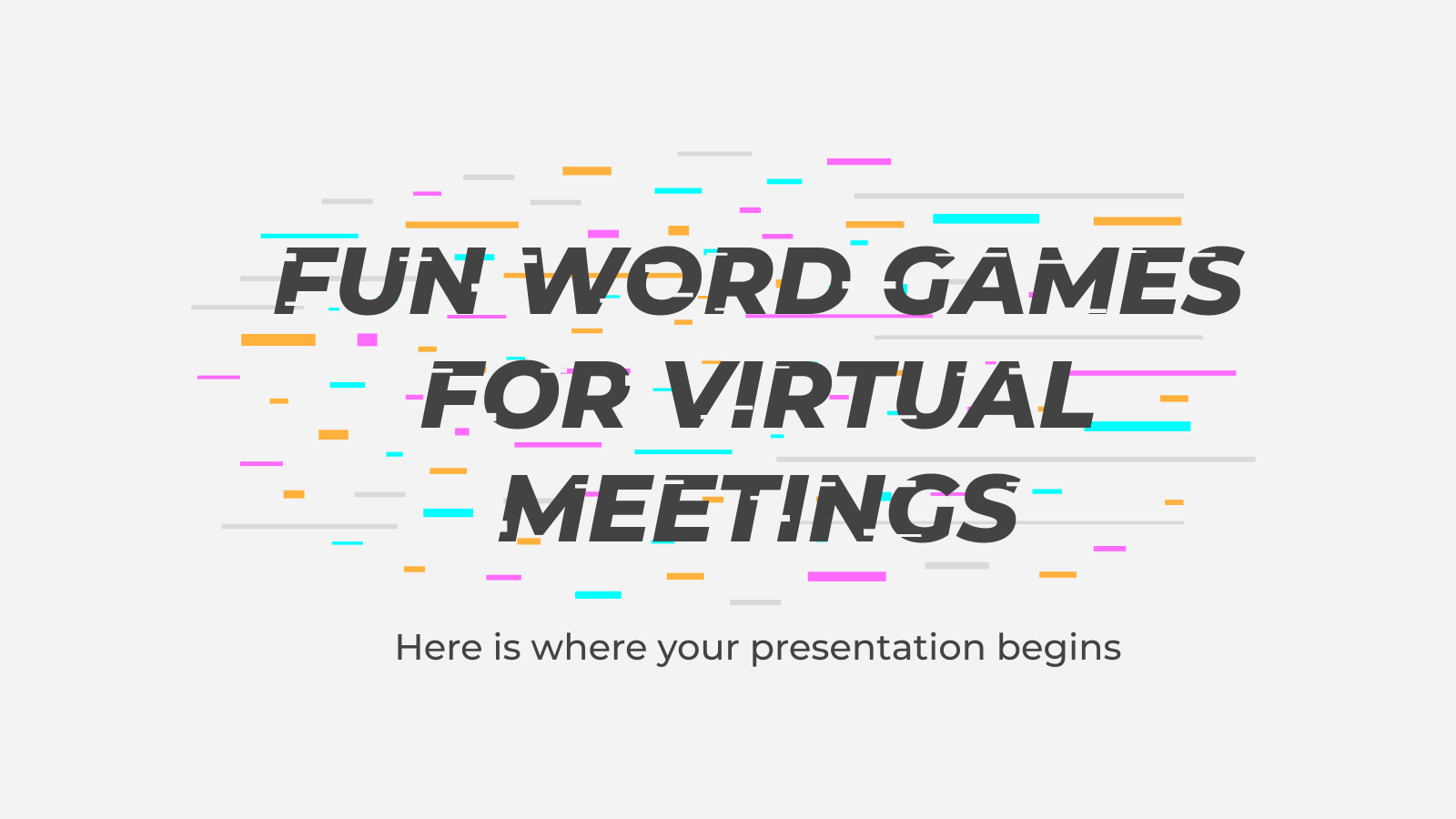 Fun Word Games for Virtual Meetings presentation template