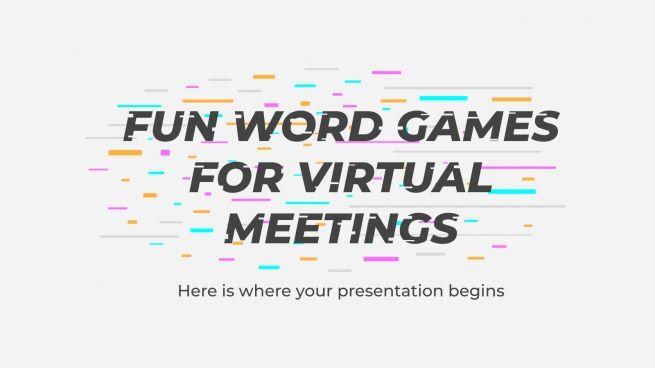 Plantilla de presentación Juegos lingüísticos para aulas virtuales