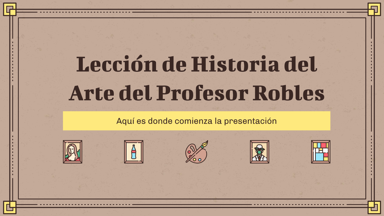 Lección Historia de Arte del Profesor Robles : Modèles de présentation