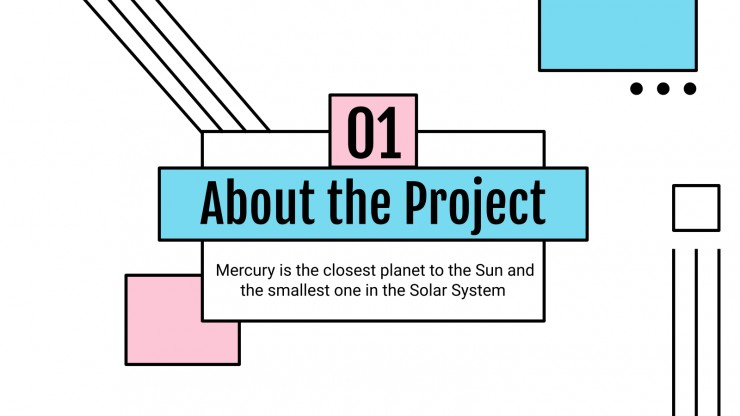 Blue and Pink Technology Project Proposal presentation template