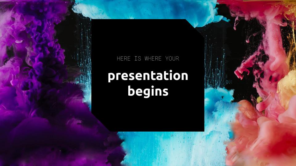 Modelo de apresentação Explosão de cores