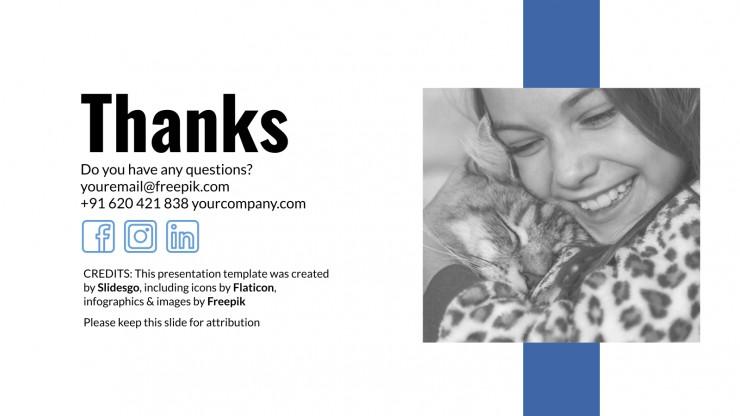 Plantilla de presentación Terapias con mascotas
