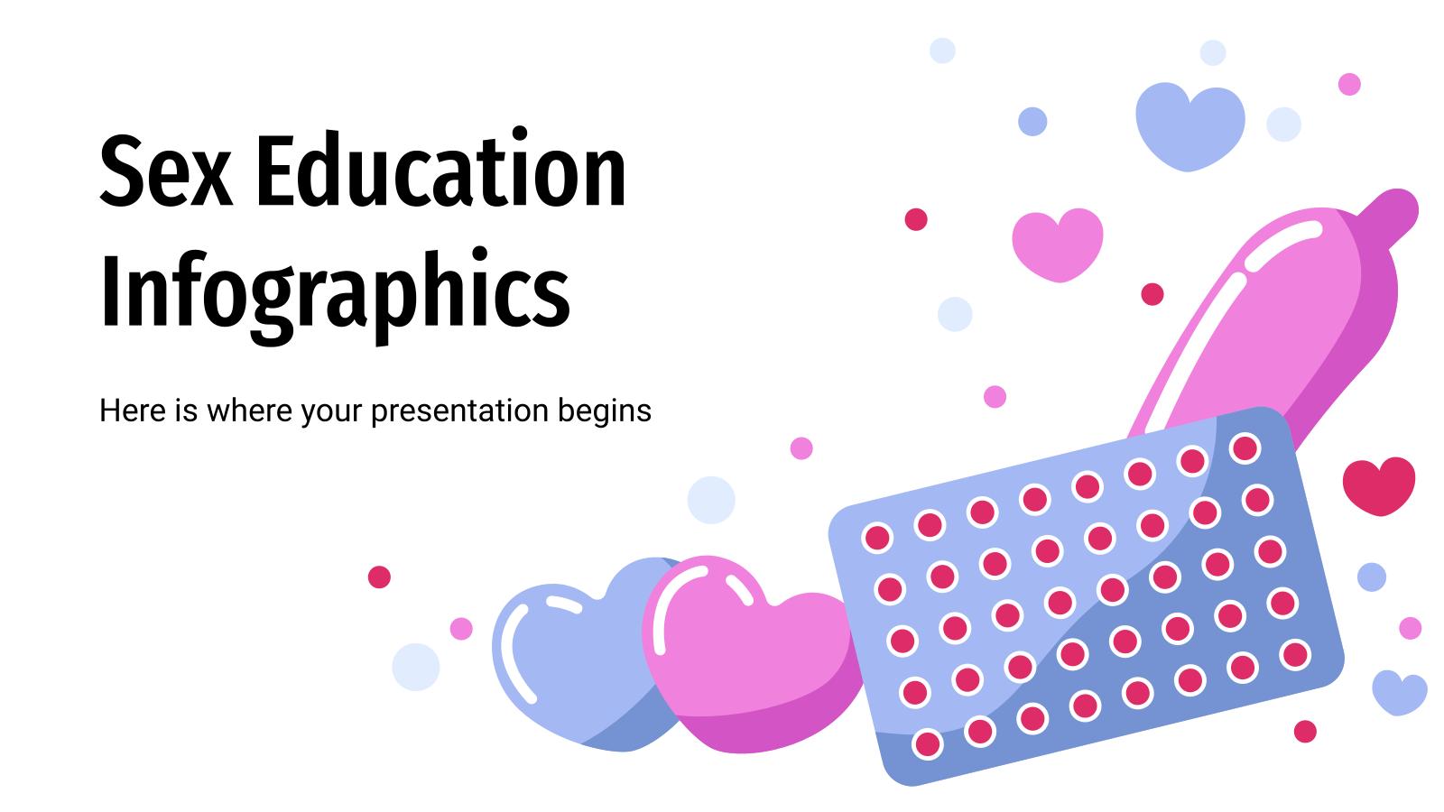 Plantilla de presentación Infografías de educación sexual