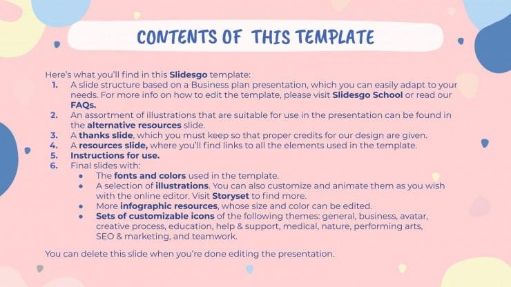 Modelo de apresentação Newsletter bonita em tons pastéis