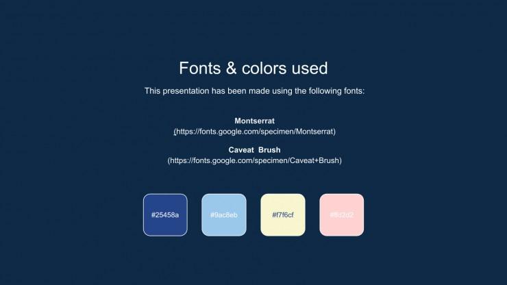 Plantilla de presentación Bonita newsletter pastel