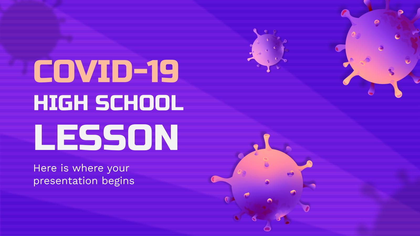 Plantilla de presentación Lección sobre la COVID-19