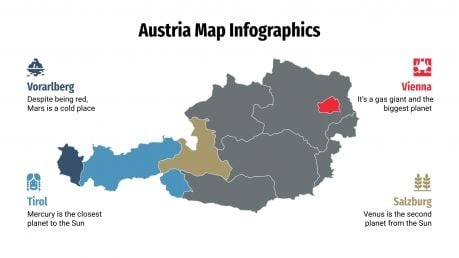 Austria Map Infographics presentation template