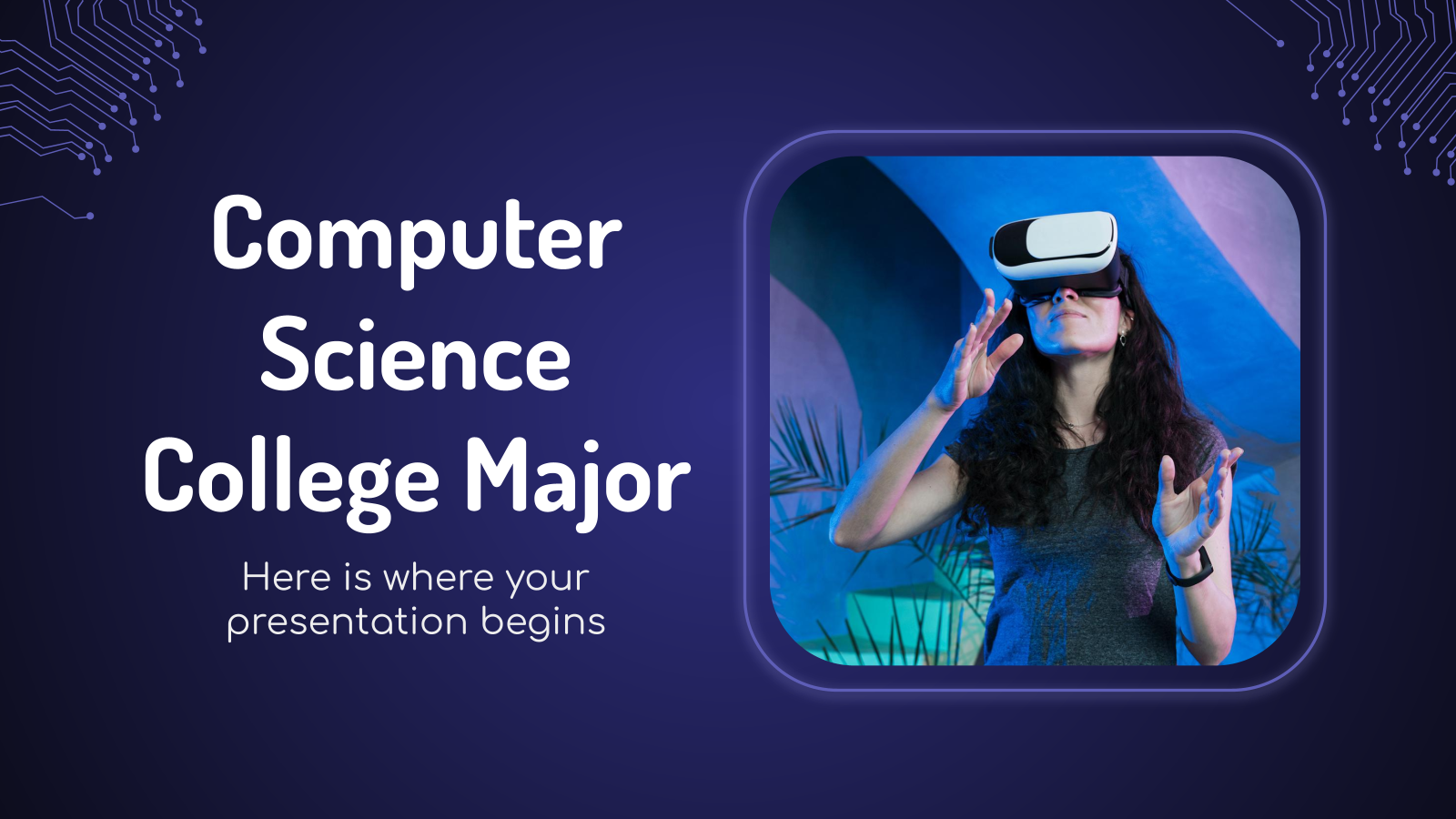 Computer Science College Major presentation template