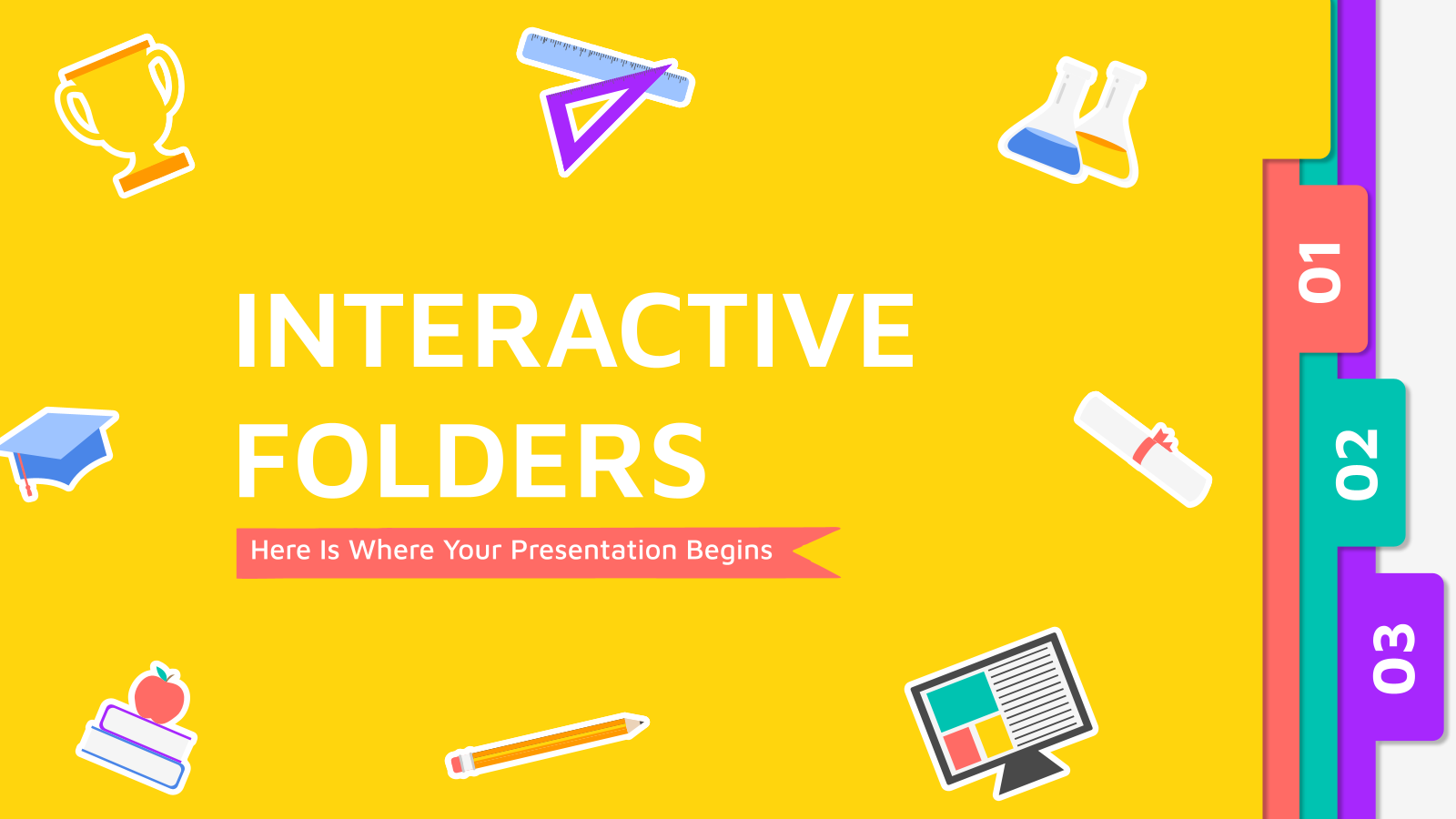 Interactive folders presentation template