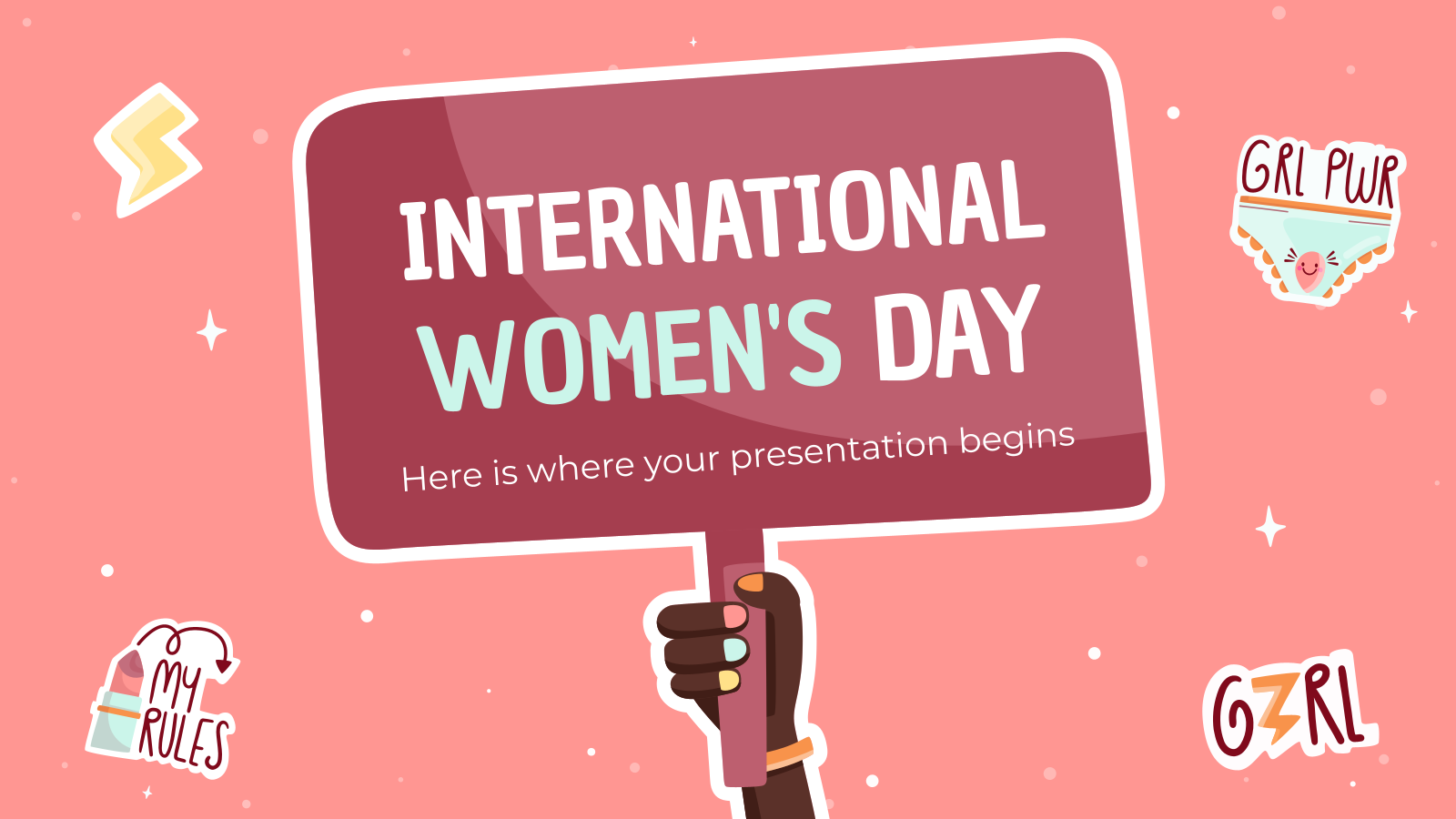 International Women's Day Stickers presentation template