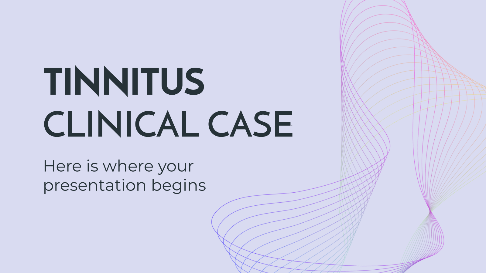 Tinnitus Clinical Case presentation template