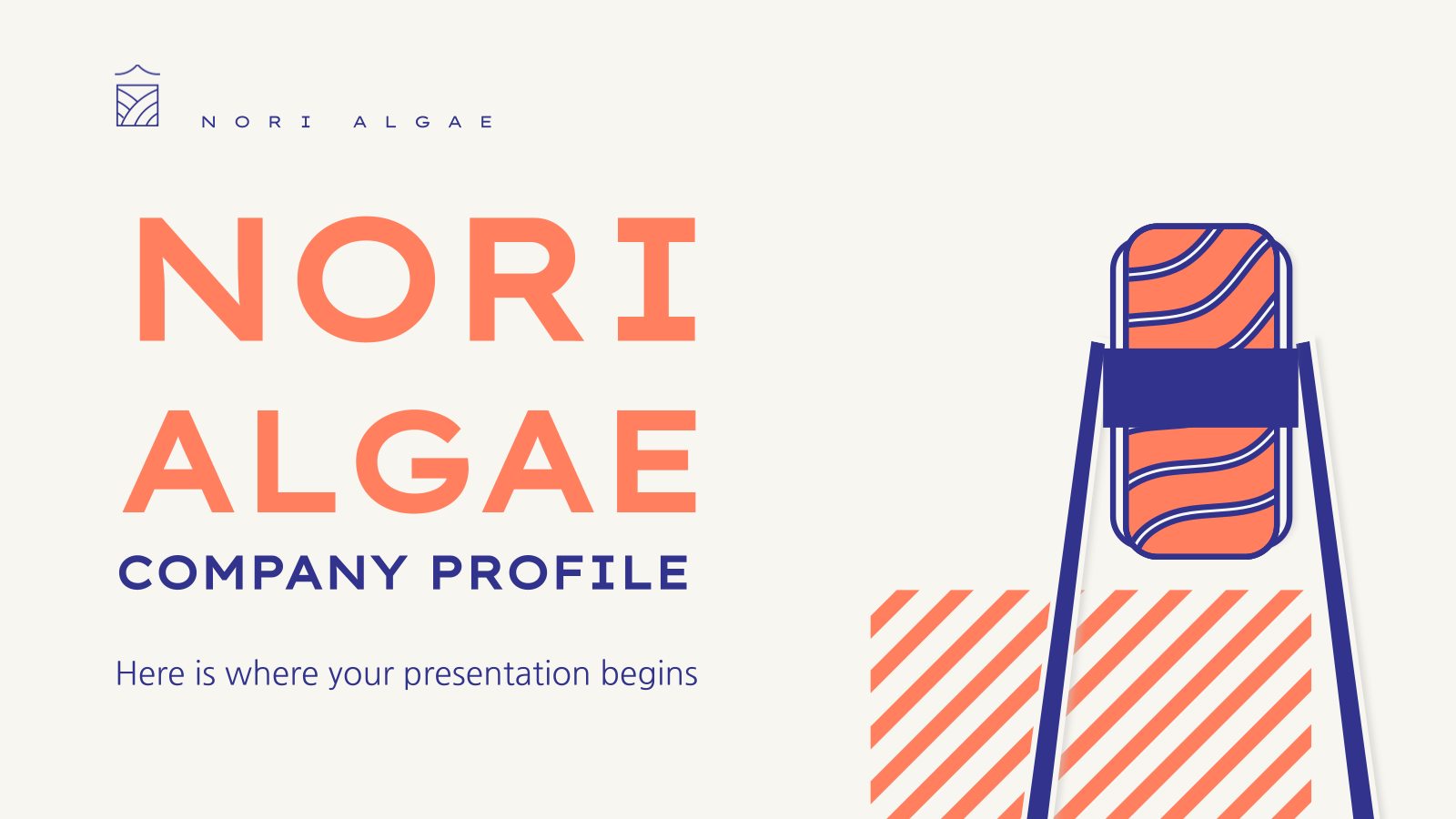 Nori Algae Company Profile presentation template