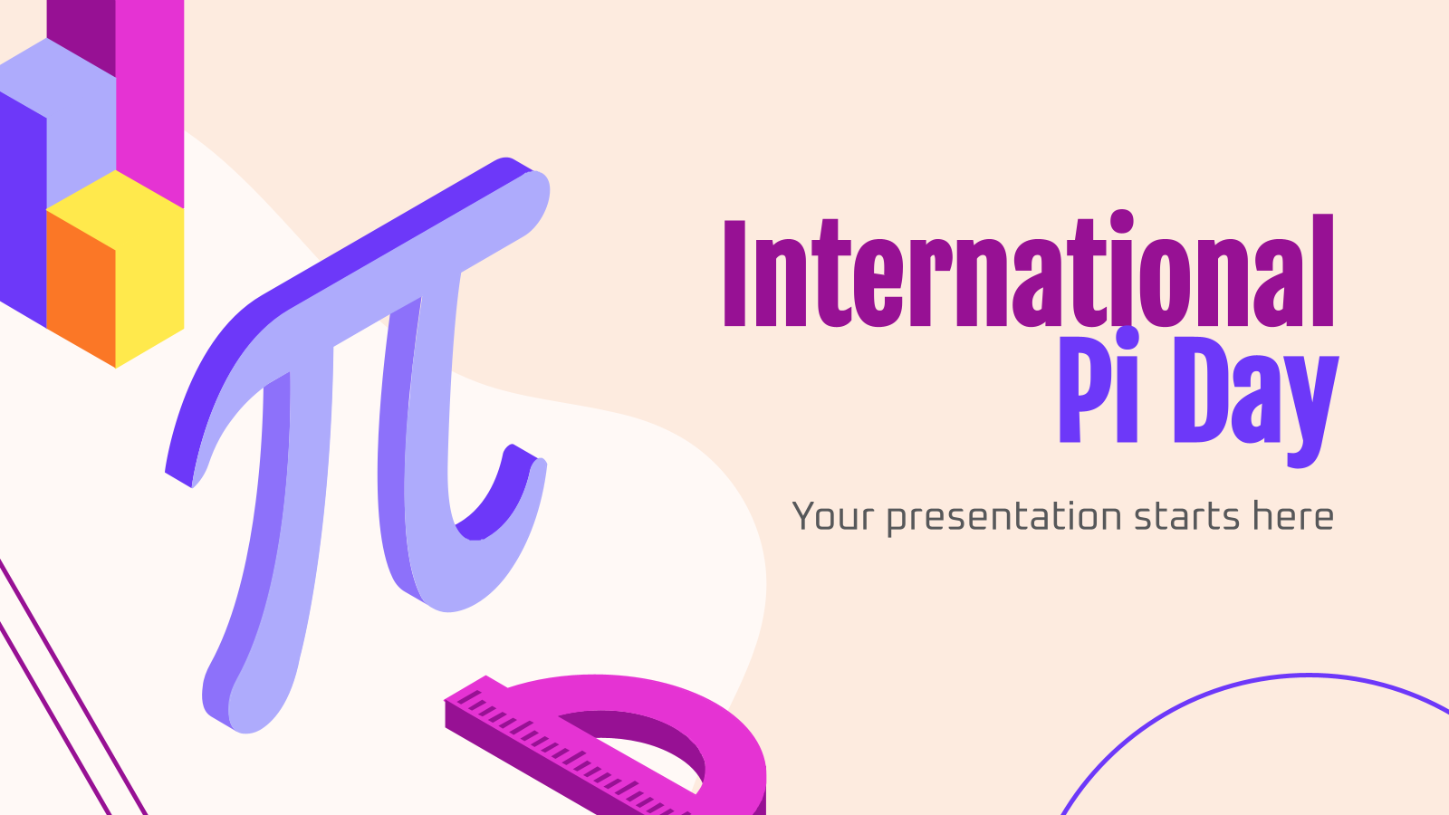 International Pi Day presentation template