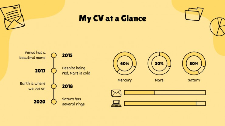 Doodle CV presentation template