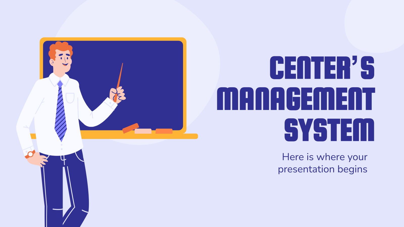 Center's Management System presentation template