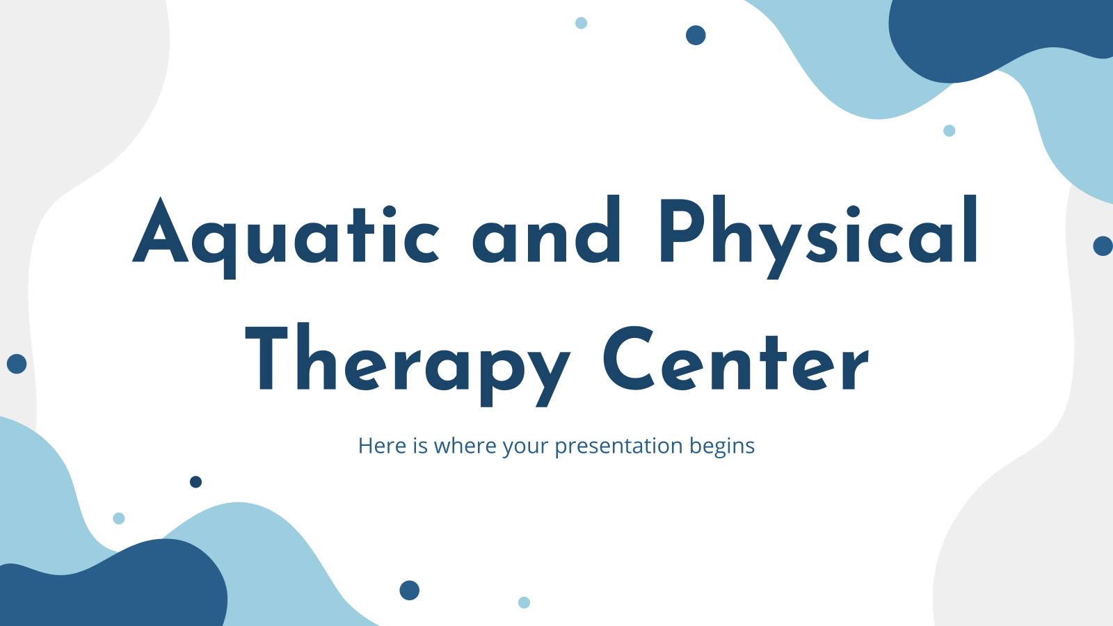 Plantilla de presentación Centro acuático y de fisioterapia