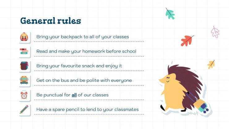 Digital Stickers for School Days presentation template