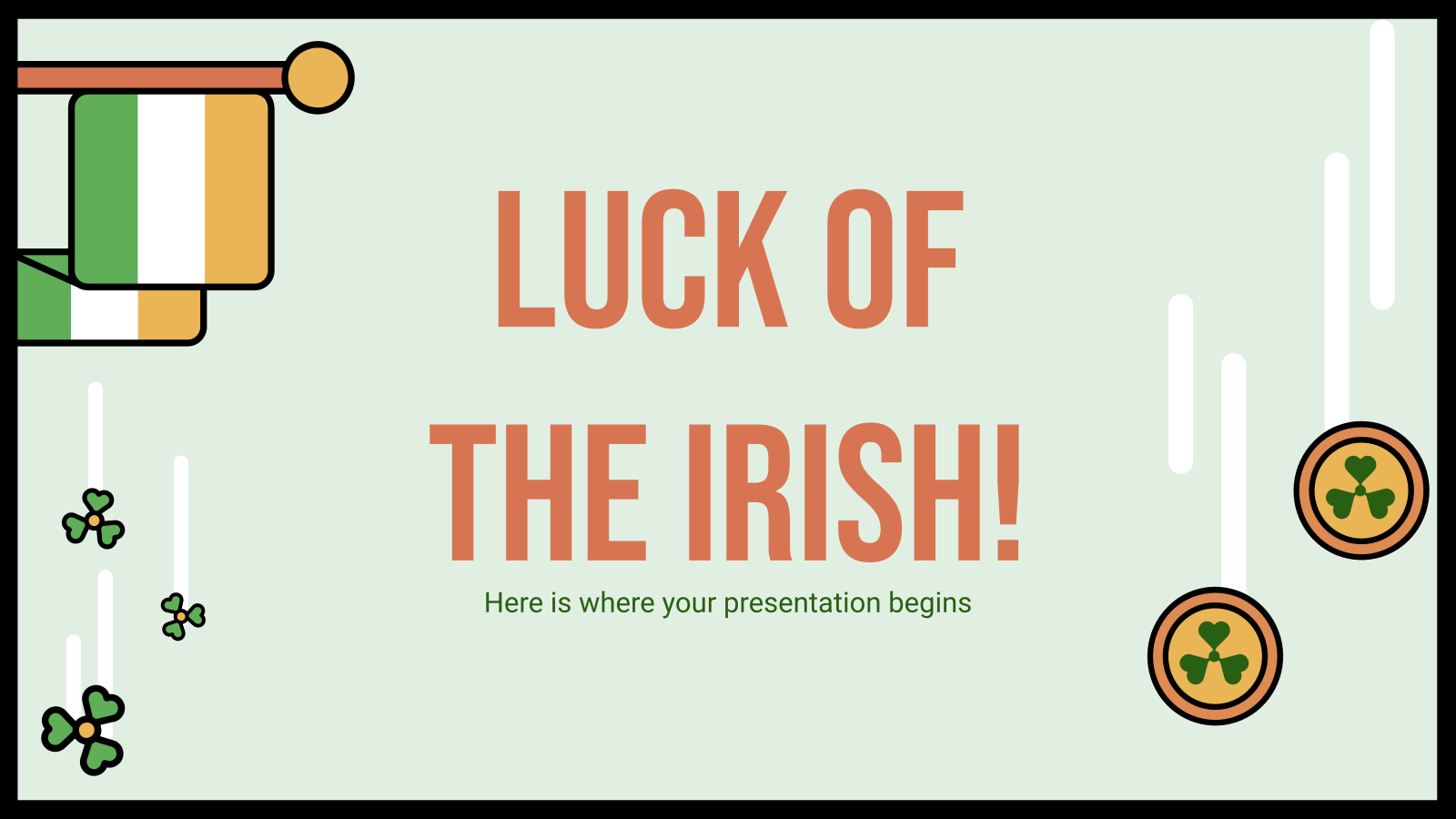 La chance des Irlandais : Modèles de présentation