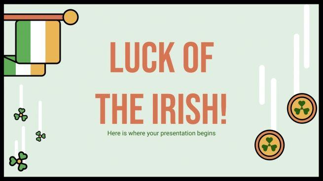 Modelo de apresentação A sorte dos irlandeses