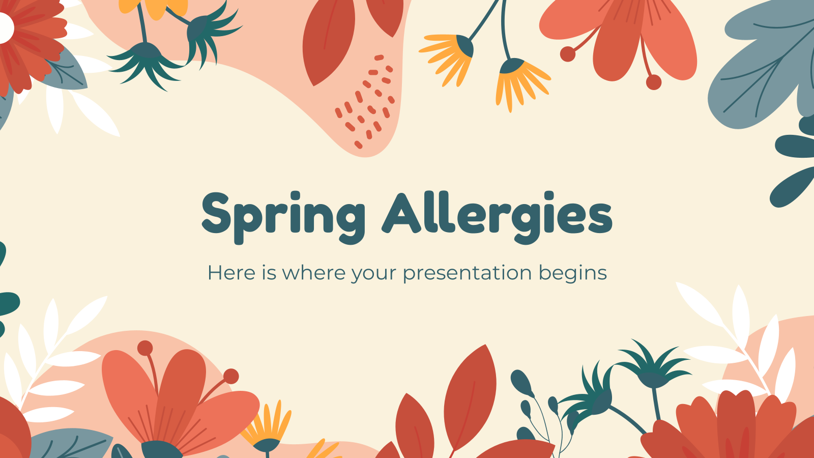 Spring Allergies presentation template