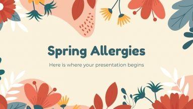 Plantilla de presentación Alergias primaverales