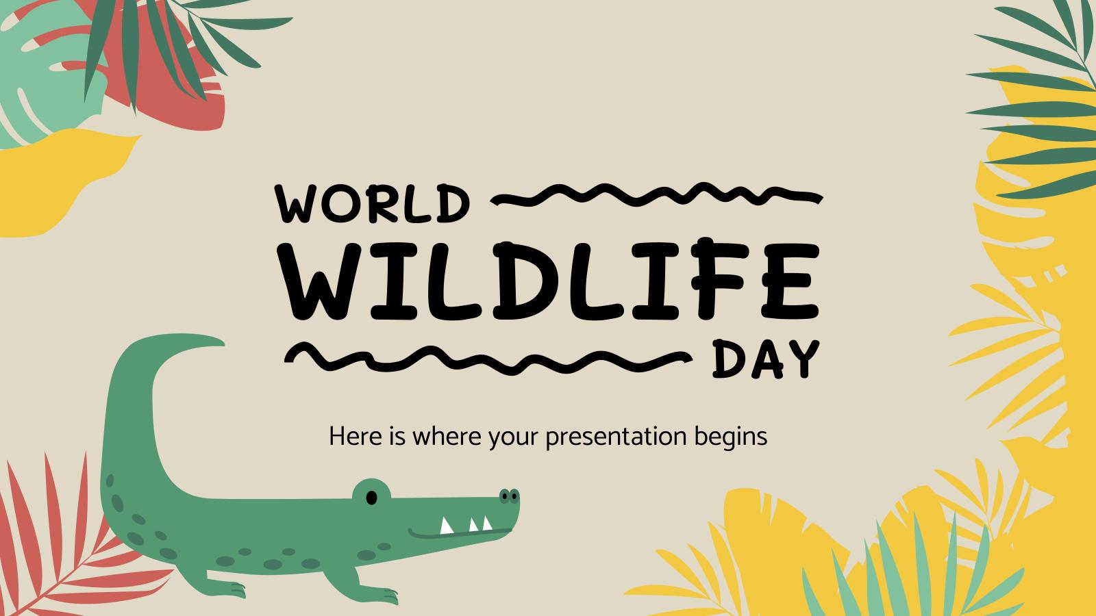 Journée mondiale de la vie sauvage : Modèles de présentation